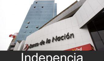 banco de la nacion en Independencia