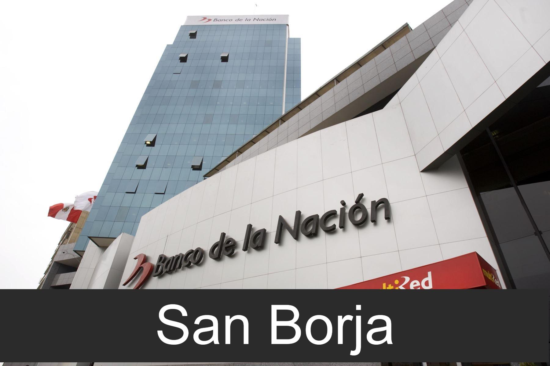banco de la nacion en San Borja