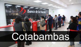 banco de la nacion en Cotabambas