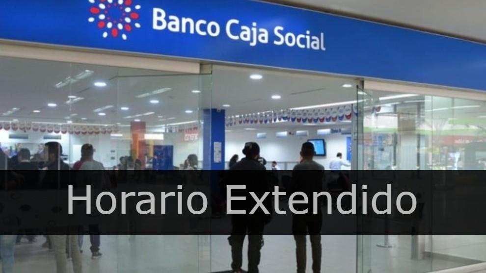 Banco caja social horario extendido bogota
